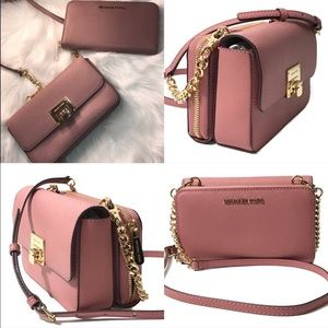 Michael Kors Tina 3 in one bag with wallet NWT$288